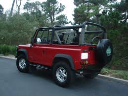 land rover defender convertible for sale 1995 land rover defender 90 nas portofino red soft top 34 100