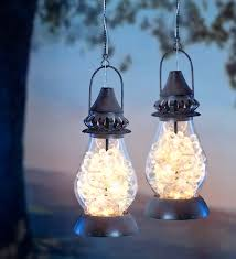 Unique Patio Lights Flower Blooms Solar Lantern Features Honeysuckle Shaped Leds For A