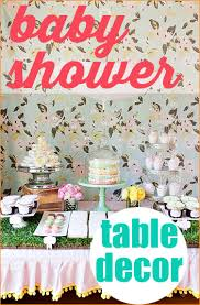 Baby Shower Table - baby shower table decorations paige u0027s party ideas