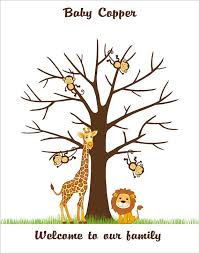 baby shower fingerprint tree safari baby shower fingerprint tree guest book thumbprint tree
