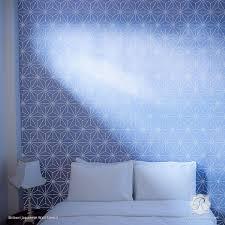 Asian Wall Decor Asian Shibori Pattern As Wall Stencils For Painting Royal Design