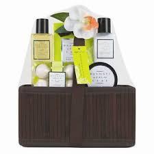 Bath Gift Basket Ladies Basmati And Palm Leaf Pamper Hamper Bath Gift Set Birthday