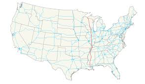 Us Airways Route Map by U S Route 51 Wikipedia