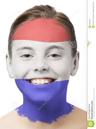 face paint flag of holland stock photos image 2910093