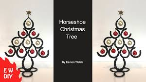 horseshoe christmas tree how to make a horseshoe christmas tree
