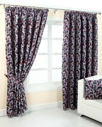 Jacquard Curtain Red And Blue Jacquard Curtain Abstract Design Fully Lined Homescapes