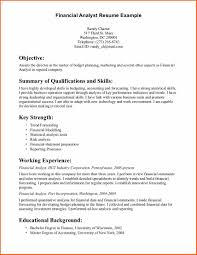 Cost Accounting Resume 6 Financial Analyst Resume Budget Template Letter
