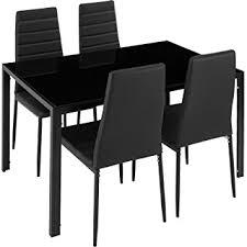 table avec 4 chaises tectake table de salle à manger avec 4 chaises confort d assise