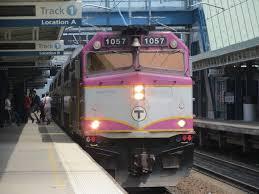 Train In Boston Map by Baker Kraft Push Foxborough Commuter Rail Service Commonwealth