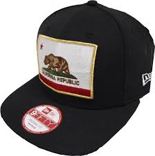 Black Flag Hat New Era California Edition Cali Flag Black Snapback Cap Kappe