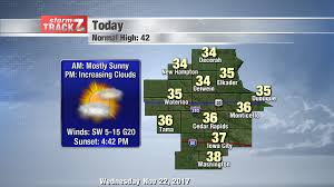 Iowa travel forecast images Tracking thanksgiving travel kwwl eastern iowa breaking news png