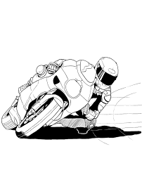 coloring pages motorcycles motorbikes motorcyclist helmet