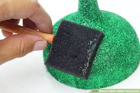 how to make glitter ornaments with pictures wikihow