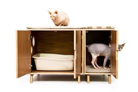 modern litter box cabinet mid century modern cat litter box furniture large cat litter