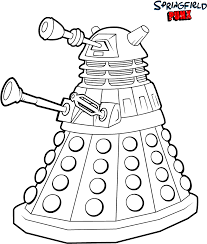 doctor who dalek coloring pages getcoloringpages com