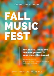 Simplemodern Simple Modern Blurred Fall Festival Flyer Templates By Canva