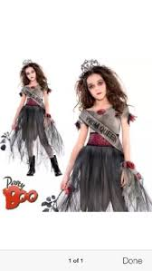 Halloween Prom Queen Costume Child Zombie Prom Queen Costume Halloween Size 14 16 Youth Girls