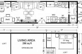 Tiny House Floor Plans 32 Long Tiny Home On Wheels Tiny House 32 X 30 House Plans