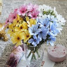 12 heads 1 bundle artificial plastic flowers bouquet