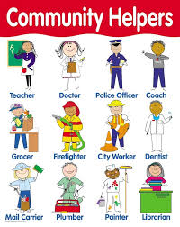 community helpers poster english wooks