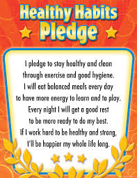 healthy habits pledge chart tcr7791 teacher created resources