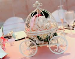 Cinderella Wire Carriage Centerpieces by Cinderella Pumpkin Carriage Table Top Decor Disney Wedding