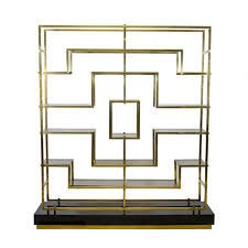 Brass Bookcase A Geometric Brass And Glass Bookcase By Romeo Rega Glass
