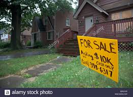 cheap house for sale in detroit stock photo royalty free image