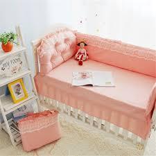 Princess Baby Crib Bedding Sets 9pcs Cotton Princess Lace Baby Cot Bedding Kit Crib Bedding Sets