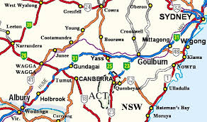 map of new south wales a road map of the state of new south wales australia