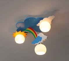 Childrens Lights For Bedrooms Creative Lighting With Modern Minimalist Ceiling L Rainbow