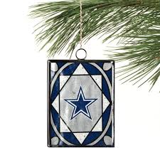dallas cowboys stained glass ornament nflshop