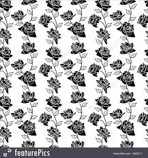 abstract patterns wallpaper with flowers stock illustration
