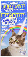 amazon com accoutrements inflatable unicorn horn for cats toys