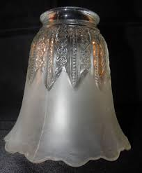clear glass shades for ceiling fans vintage frost clear glass chandelier l ceiling fan light tulip