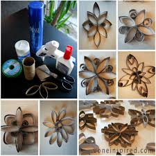 toilet paper roll snowflakes voneinspired toilet paper roll art