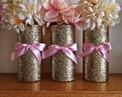 pink and gold baby shower 5 gold pink vases baby shower decorations baby shower