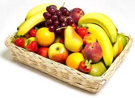 fruit in a basket on a platter