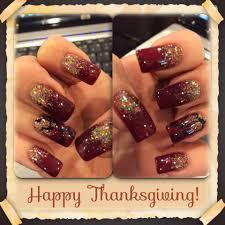 thanksgiving season inspired nail art maroon gel polish with gold