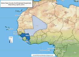 west africa map ebola novel infectious diseases map ebola outbreak west africa as of
