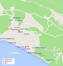 Kefalonia Greece Map by Map Of The Village Of Lourdata Lourdas Kefalonia