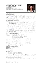 Sample Resume In The Philippines by Resume For Staff Nurse Philippines Virtren Com