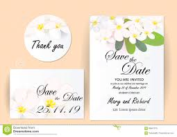 Size Invitation Card Wedding Invitation Card Flowers Jasmine Stock Vector Image 89647975