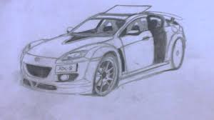 ferrari enzo sketch ferrari u0026 mazda rx 8 draw youtube
