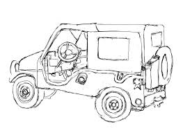 army jeep drawing jeep wrangler coloring pages eliolera com
