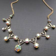crystal vintage necklace images Aurora borealis crystal costume necklace uk jpg