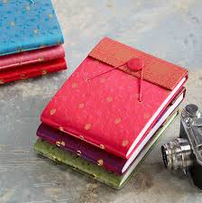handmade photo album handmade small sari photo album by paper high notonthehighstreet