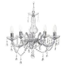 Marie Therese Crystal Chandelier Buy Tesco Lighting Marie Therese Five Light Ceiling Fitting Chrome