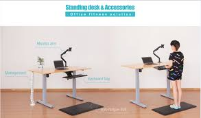 standing desk cable management under desk height adjustable cable management with thread guide for