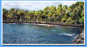 black sand beach hawaii punalu u black sand beach condo for rent on the big island of